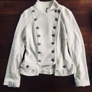 Free people small cream button jacket